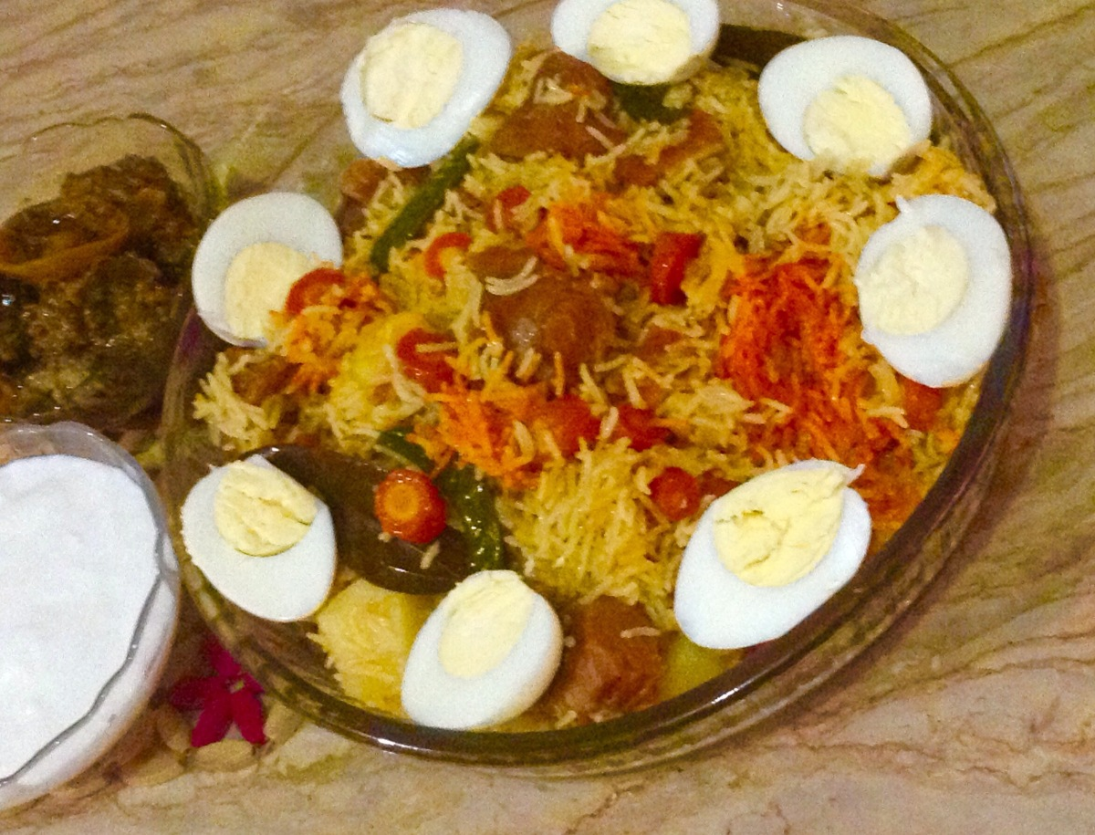 Vegetable and beef pulao