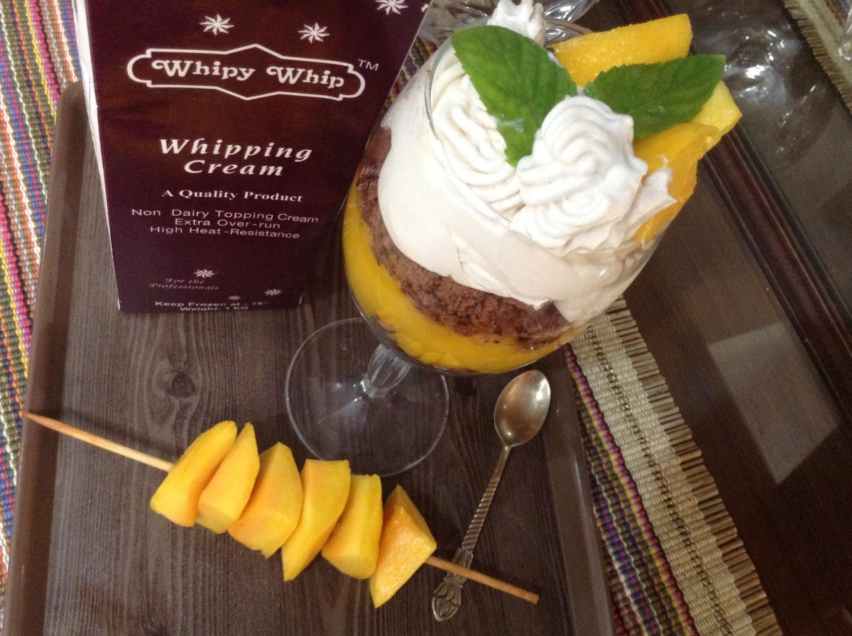 Mango and Caramel Cream Desert