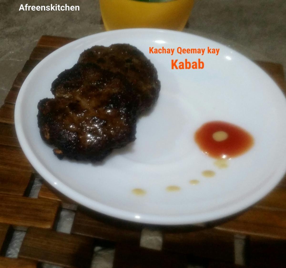 Kachay qeemay k Kabab