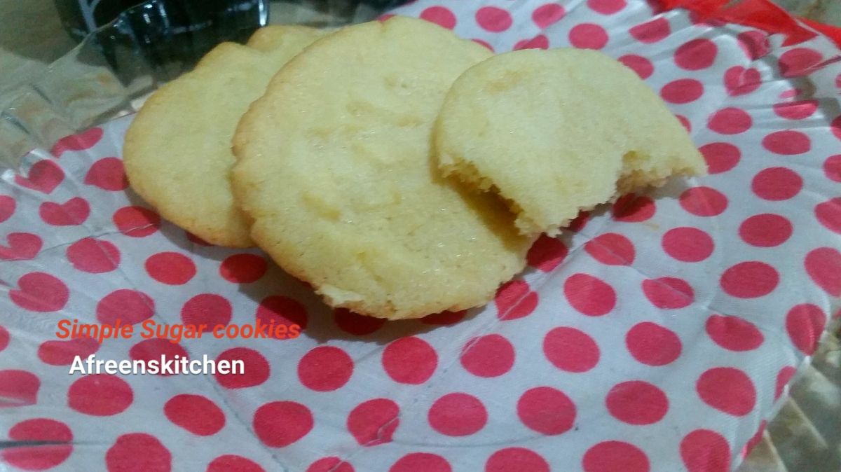 Sugar cookies with oil